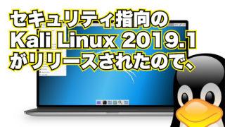 セキュリティ指向の Kali Linux 2019.1 がリリースされたので、