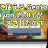 すぐに使えるGentoo系 Sabayon 19.03がリリースされたので、