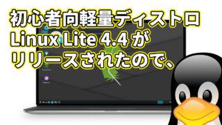 初心者向けの軽量ディストロ Linux Lite 4.4 がリリースされたので、