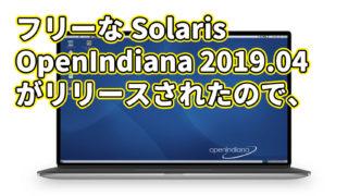 フリーな Solaris: OpenIndiana 2019.04 がリリースされたので、