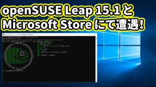 openSUSE Leap 15.1とMicrosoft Store にて遭遇!