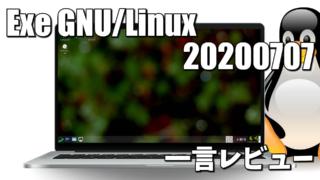 一言レビュー: Exe GNU/Linux 20200707